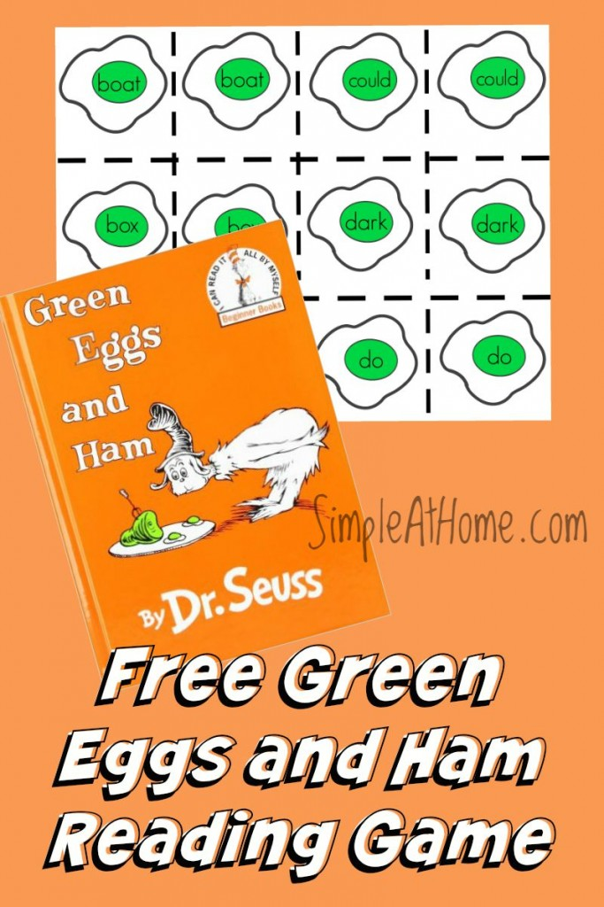 graphic regarding Green Eggs and Ham Printable identified as Totally free Printable: Inexperienced Eggs and Ham Improve With Me Sport