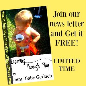 Learning through play FREEBIE