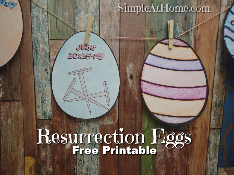 Resurrection Eggs Color Your Own
