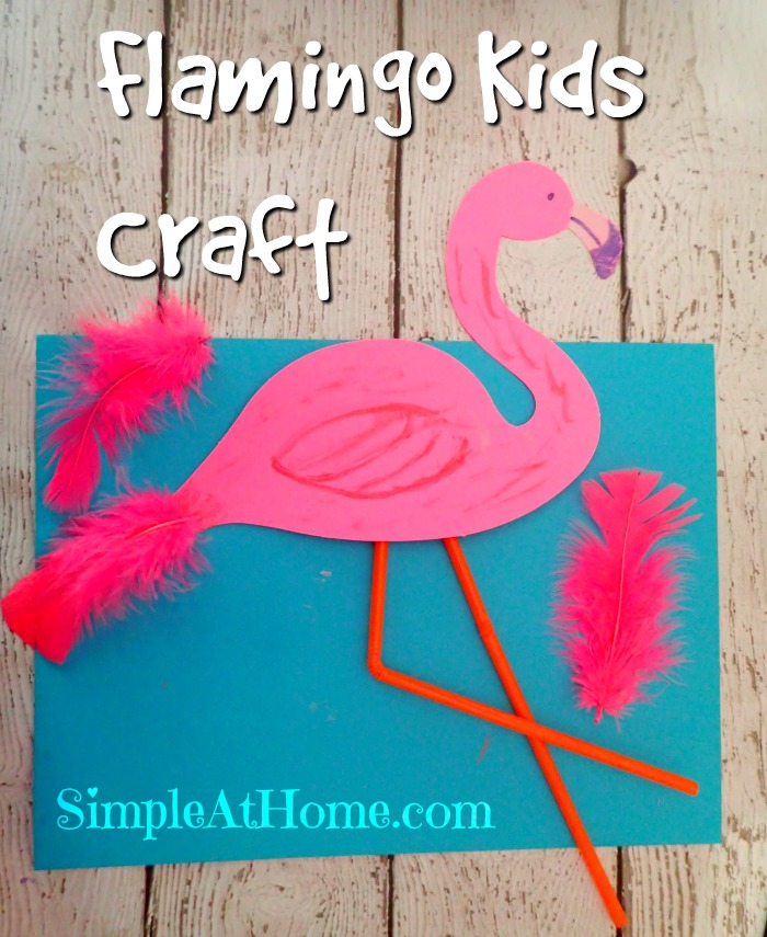 Flamingo Kids Craft With Book List Simple At Home
