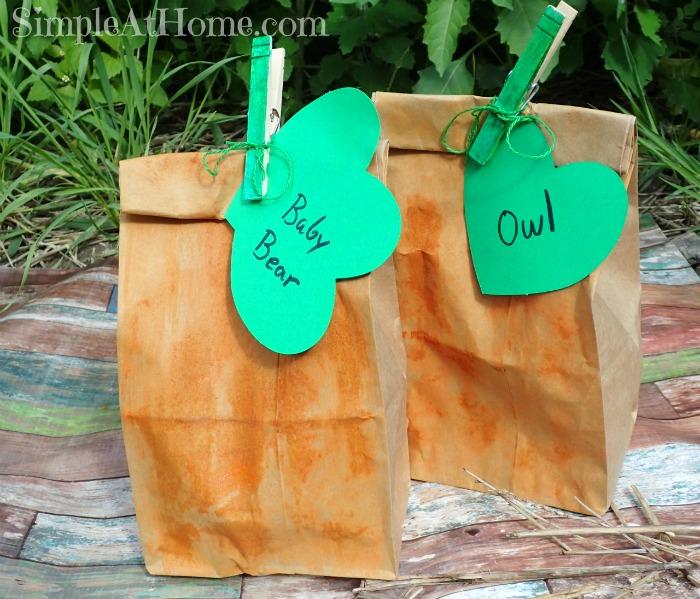 Cute pumpkin treat bags.