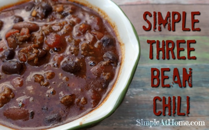 Simple 3 Bean Chili - Simple At Home