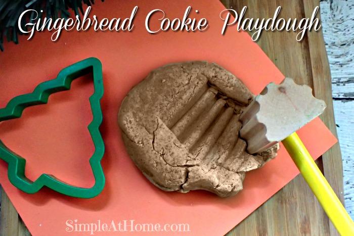 Gingerbread Cookie Playdough