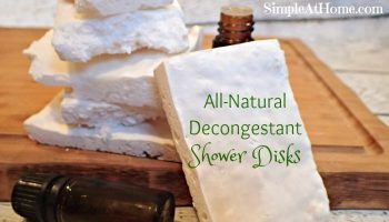 Peppermint Eucalyptus All-Natural Decongestant Shower Disks