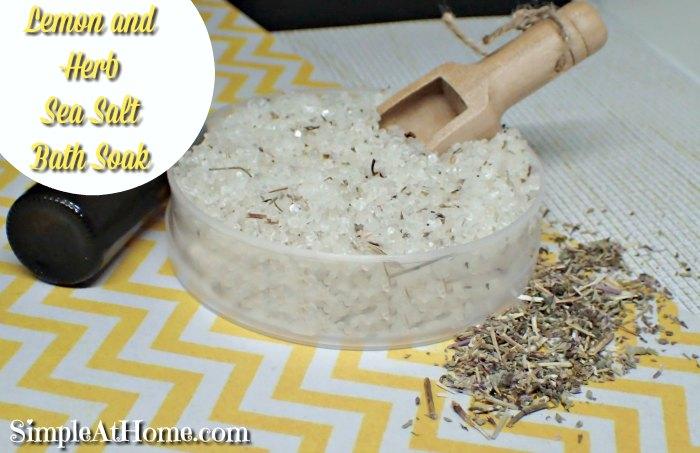 Lemon and Herb Sea Salt Soak