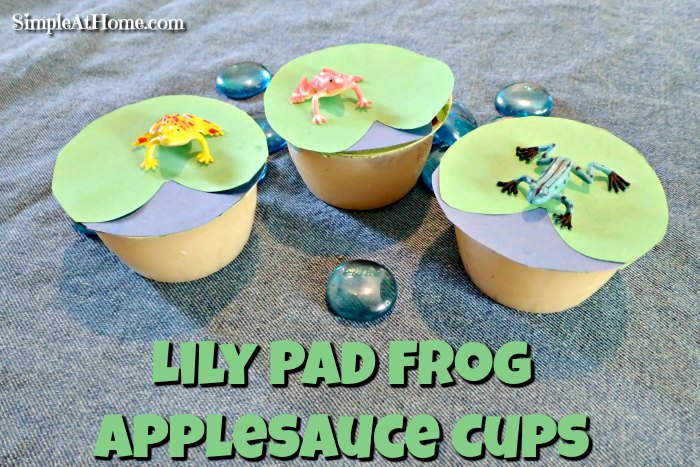 Lily Pad Frog Applesauce Cups