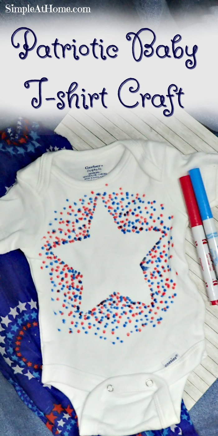 Patriotic Baby T Shirt Craft Simple At Home