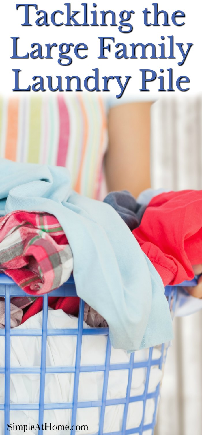 Tips for tackling the large family laundry pile simple for Large family laundry
