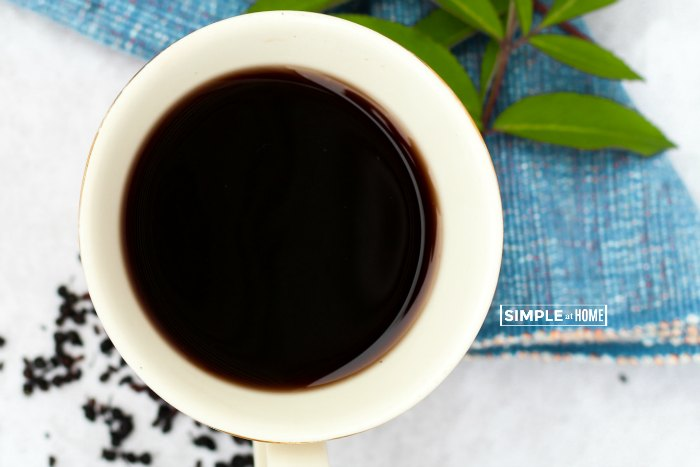Elderberry tea recipe and the benefits of elderberry tea